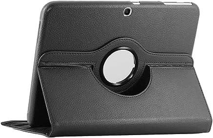ebestStar - Compatible Coque Samsung Galaxy Tab 3 10.1 GT-P5210, 10 P5200 P5220 Housse Protection Etui PU Cuir Support Rotatif 360, Noir [Appareil: 243.1 x 176.1 x 8mm, 10.1'']