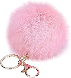 0319b5d682 Kanggest Porte Clés Porte-clés/Trousseau en Alliage Pendentif Pompon Porte  Clef pour Femme
