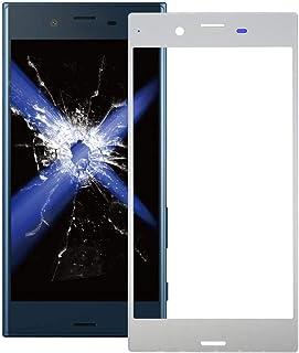 مجموعة إصلاح QFH عدسة زجاجية خارجية للشاشة الأمامية لهاتف Sony Xperia XZ (أسود) قطع غيار مقاس اللمس والهاتفالمحمول (اللون:...