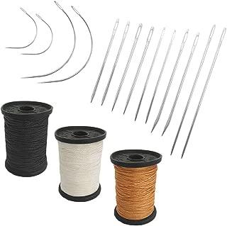 Agujas de Tejer de Acero para Proyectos de Cuero con Botella Transparente GCOA 60 Piezas Agujas de Ojo Grande