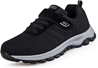 Men's Breathable Sports Shoes, Outdoor Waterproof Hiking Shoes, Walking Shoes for the Elderly, Non-slip, Suitable for Camp...