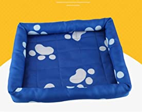 Pengcher Water Resistant Dog Crate Bed for Summer(Blue,L) for Pet Dog Blanket
