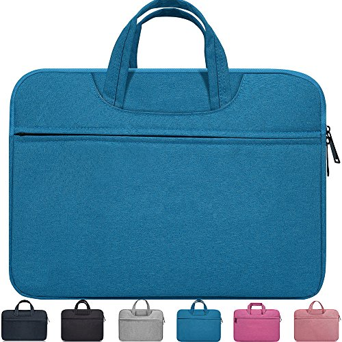 """15.6 Inch Waterproof Laptop Sleeve Case for ASUS VivoBook F510UA 15.6"""",Acer Aspire E 15/Acer Predator Helios 300,HP Pavilion X360 15.6"""",DELL ASUS HP MSI LG Toshiba Lenovo 15.6 inch Notebook Case,Blue"""