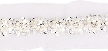 PIXNOR Lace Ribbon Trim Sewing Craft White