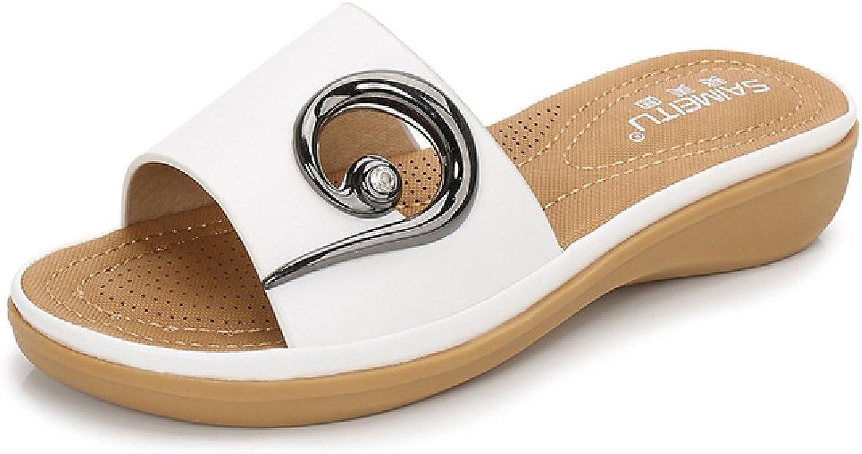 Btrada Womens Casual Slides Beach Sandals Slipper Flats for Summer