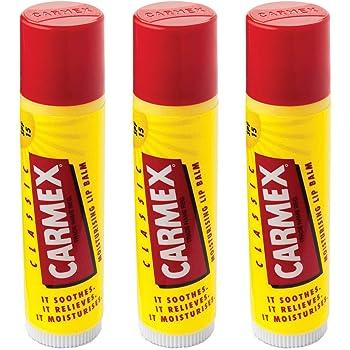 carmex Classic Labios Bálsamo Stick (LSF 15), 3 Pack (3 x 4 G ...