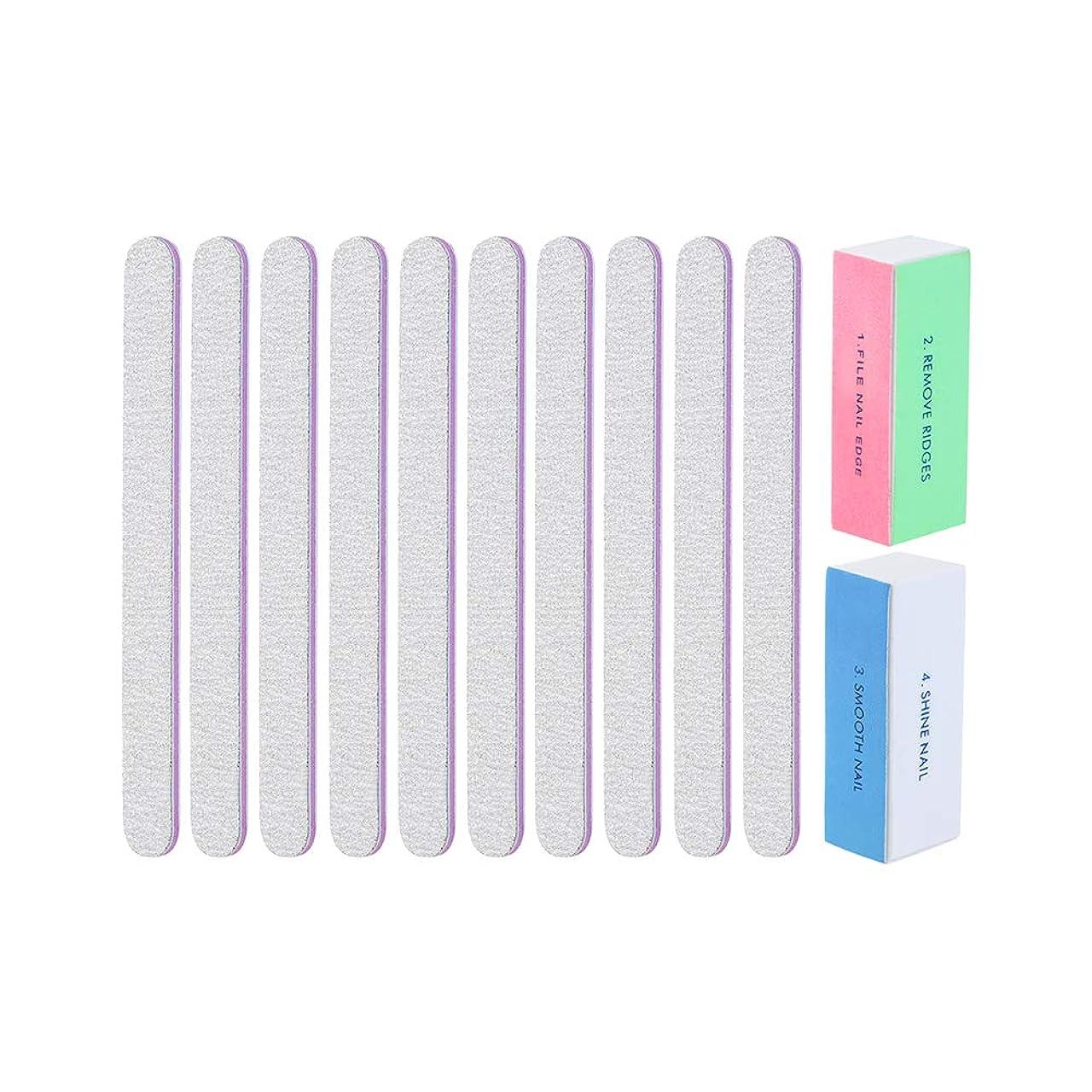 幅体系的に波Healifty ネイルアートファイルブロックマニキュア2個と両面ネイルファイルエメリーボード10個