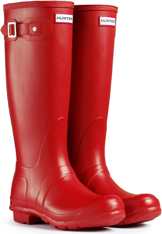 Hunter Woherren Original Tall Rain Stiefel rot, Größe 8