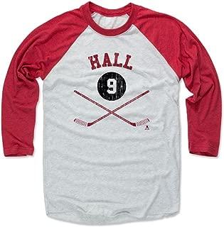 500 LEVEL Taylor Hall Shirt - Vintage New Jersey Hockey Raglan Tee - Taylor Hall Sticks