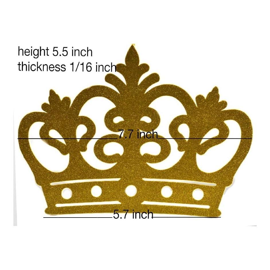 Glitter Crown Decoration, EVA Foam, 10 Pieces High Quality (Gold)