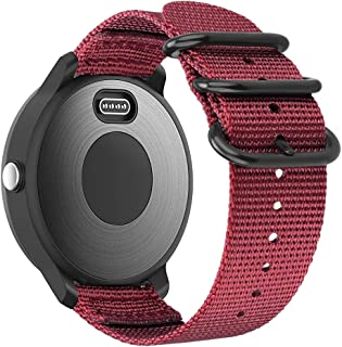 Fintie for Garmin Vivoactive 3, Forerunner 245 Band, 20mm Soft Woven Nylon Replacement Strap with Metal Buckle Compatible Vivoactive 3 Music, Vívomove HR, Forerunner 645 Music Smartwatch, Red