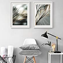 JRTF Tropical Plant Leaf Canvas Poster Nordic Botanical Wall Art Print Picture Painting for Home Decoration-40X60Cmx2 Pcs Frameless