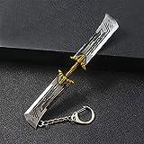 Xssbhsm Llavero Espada llaveros Poder Infinito guantelete Llavero Llavero de Cine (Color : K602, Gem Color