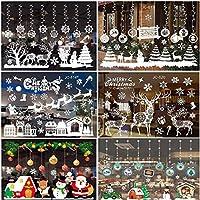 SYBHD メリークリスマスウォールステッカー窓ガラスのステッカーの家族のクリスマスの装飾 (Color : P)
