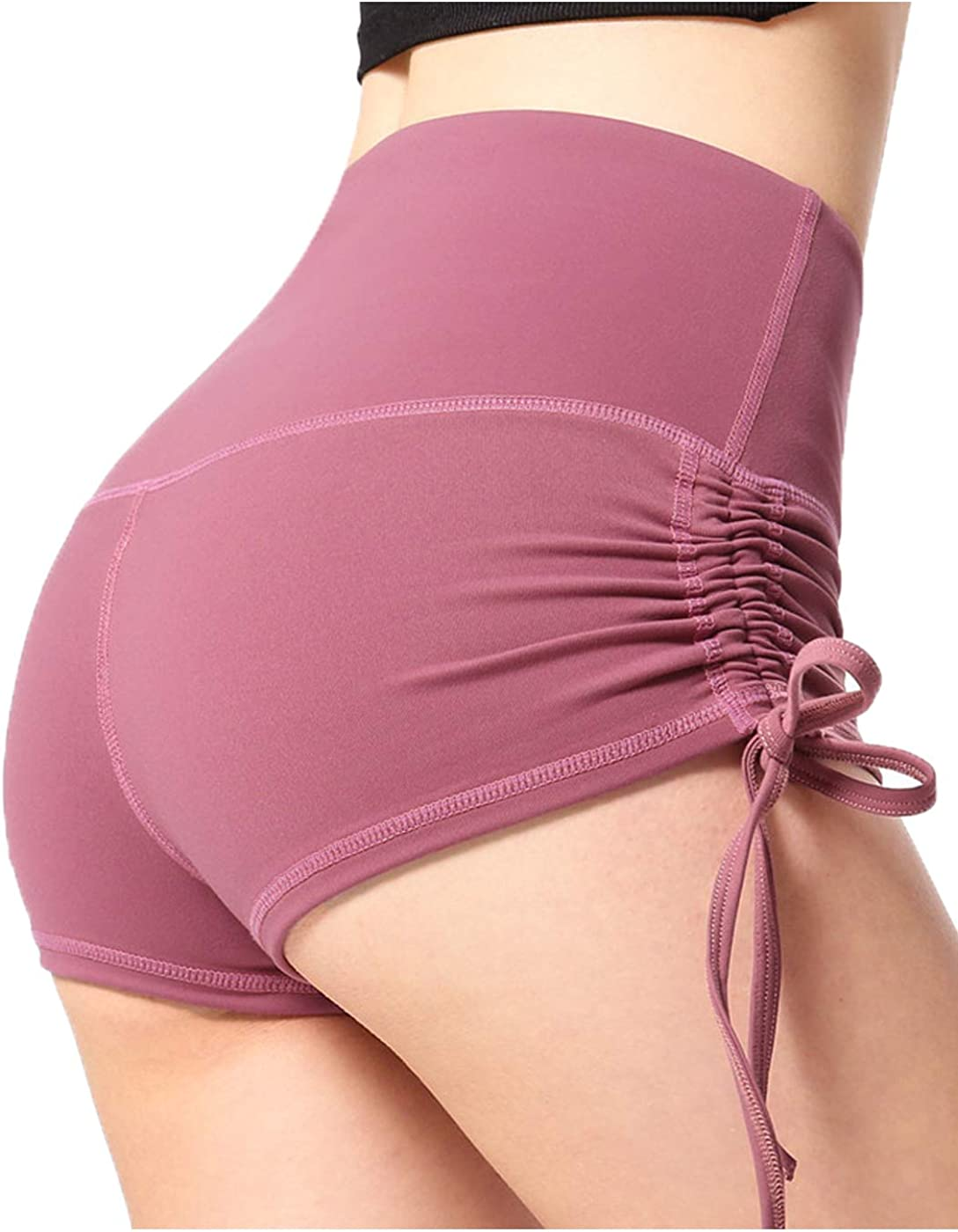 Anna-Kaci Butt Lifting Yoga Shorts for Women Ruched Sports Booty Workout Gym Running Shorts