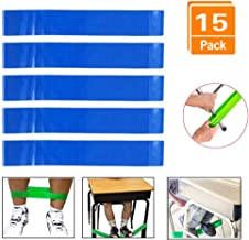 XIEGUANGHU Chair Bands Stretch Foot Band,15 Packs Bouncy Flexible Seating Chair Fidget Bands for Kids,Improves Student Focus,Relieves Stress and Anxiety,Works for ADD ADHD (Blue)