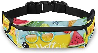 Hallo Zomer Watermeloen Ijs Cream Taille Pack Tas voor Fietsen Fitness Oefening Waterdichte Verstelbare Workout Fanny Pack...