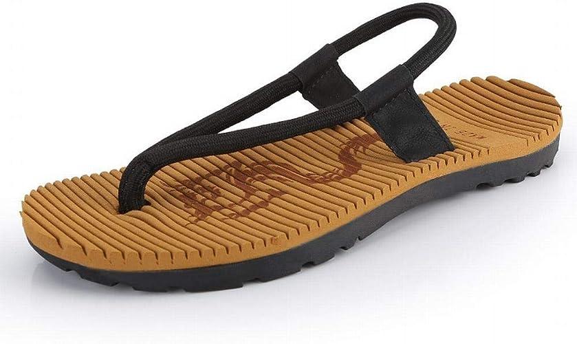 EGS-chaussures Chaussures de Plage décontractées Sandales d'été Chaussures de Cricket (Couleur   Noir, Taille   39)