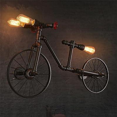 H&M Apliques de Pared Bicicleta Retro Tubo Pared lámpara Hierro el ...