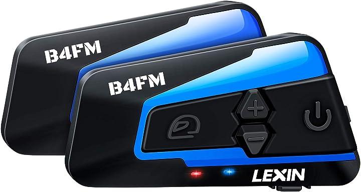 interfono moto, bluetooth sistema di comunicazione per motocicletta, radio fm,lexin 2x lx-b4fm