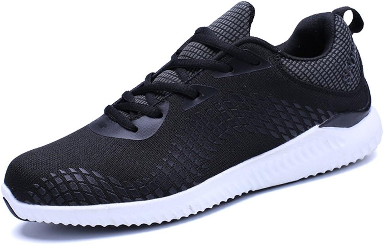 Men's shoes Feifei Spring and Autumn Movement Breathable Mesh Casual shoes 3 colors (color   01, Size   EU39 UK6.5 CN40)