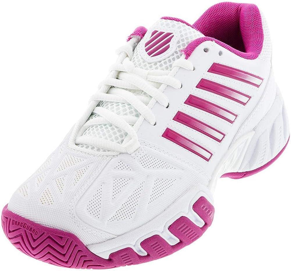 K-Swiss Bigshot Light 3 Junior Tennis Shoe - White/Cactus Flower
