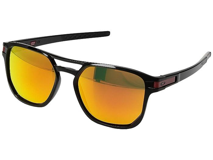 Oakley Latch Beta (Polished Black/Prizm Ruby) Sport Sunglasses