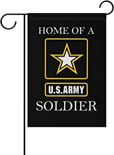 Donnapink US Army HOME OF A SOLDIER American Military United States Army Weatherproof Polyester Garden Flag 12