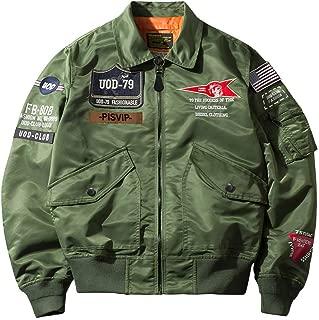 SemiAugust(セミオーガスト)アウター メンズ フライトジャケット ma-1 ブルゾン ワッペン ミリタリー ジャケット ナイロン ジャンパー エムエーワン 春服