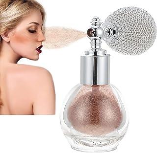 Glitter Highlighter Powder Spray, Brighten Women Contour Makeup Flash Powder Natural Shiny Powder Body Dust Glitter Glass ...