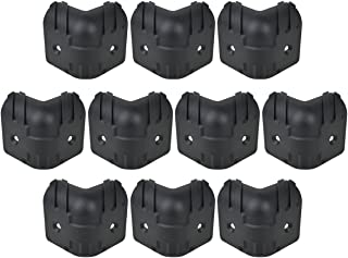 Kmise Black Hard Plastic Guitar Amp Cabinets Amplifier Speaker Cabinet Corner Protectors L Size Pack of 10