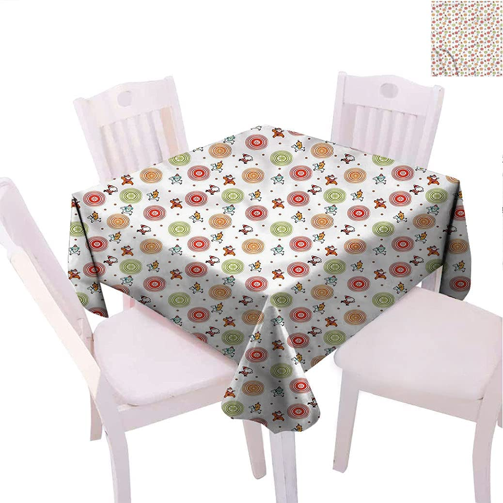 Alexdemo Christmas Square Table Cover 2021 autumn and winter new Happ x Merry 60