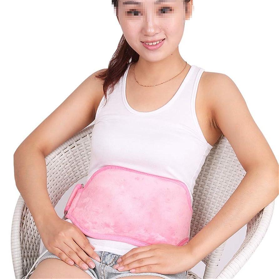 カウボーイ驚いたことに忠誠腰椎&腹部熱パッドの理想のために腰痛&腹痛で自動オフ 腰痛保護バンド (色 : ピンク, サイズ : Free size)