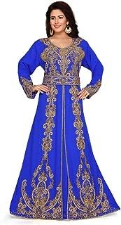 Women's Bottom Open Kaftan Dress with Belt