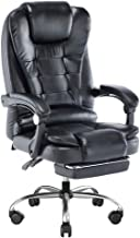 SUPEO オフィスチェア デスクチェア レザーチェア 社長椅子 事務椅子 ワークチェア 多機能椅子 昇降機能付 155度リクライニング 360度回転 ハイバック 可動式アーム スチール製ベース 静音キャスター 男女兼用座椅子