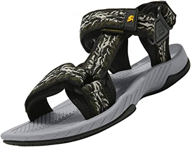 Camel Mens Outdoor Hiking Walking Sandals Sports Adjustable Straps Summer Water Shoes for Beach, Fish, Trekking