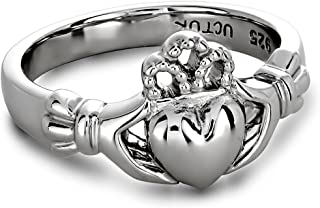 14K White Gold ULG-6163W Claddagh Ring