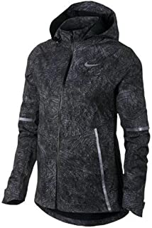 Nike Shield Women's Zonal Aeroshield Solstice Flash Reflective Running Jacket Black 876833 010