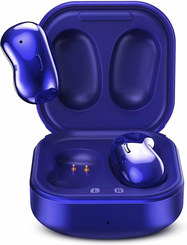 Urbanx Street Buds Live True Wireless Earbud Headphones for Samsung Galaxy S21+ 5G - Wireless Earbuds w/Hands Free Controls - (US Version with Warranty) - Blue