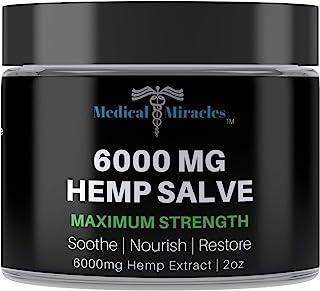 Medical Miracles Hemp 6000 Mg Maximum Strength Healing Salve | 100% Natural Cream Relieves Inflammation, Muscle, Joint, Kn...