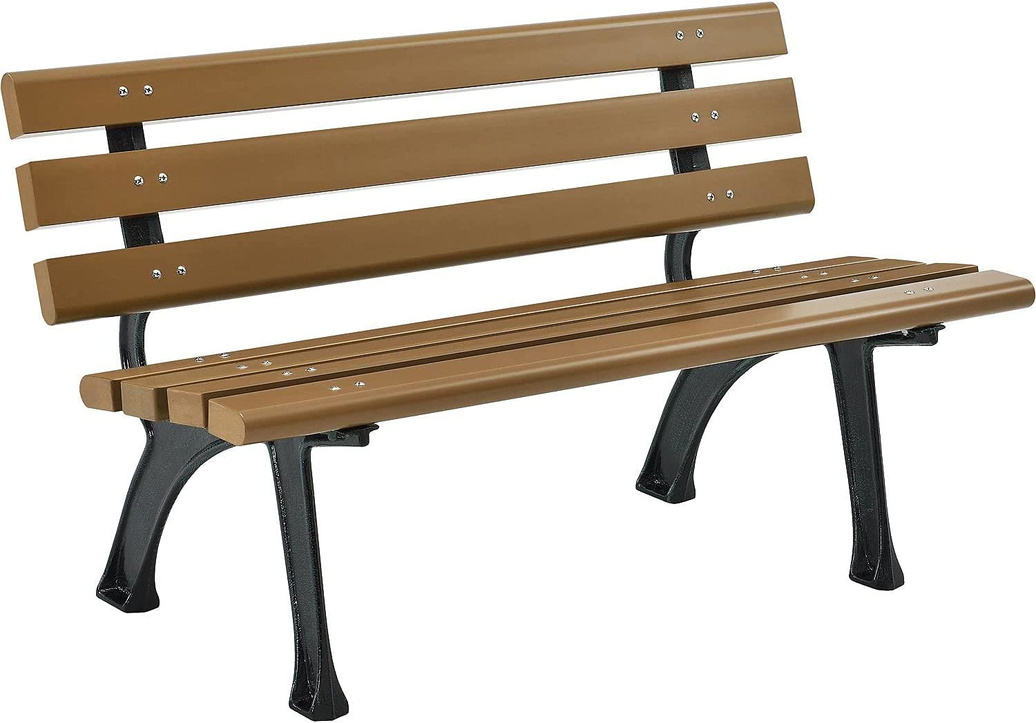 5% OFF Global Industrial Park Bench with Free shipping on posting reviews 4'L Tan Backrest