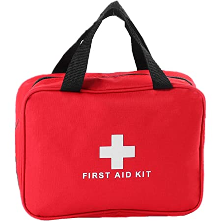 MXECO tragbarer Mini-Speicher-Beutel-im Freien Spielraum Erste-Hilfe-Kit Medizin Bag Small Medical Box Not/überlebens Pille Fall rot