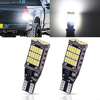 Biqing 2 szt. T10 T15 W16W LED światło cofania żarówka CANBUS 12 V 24 V 921 912 45SMD LED żarówki do oświetlenia wewnętrzn...