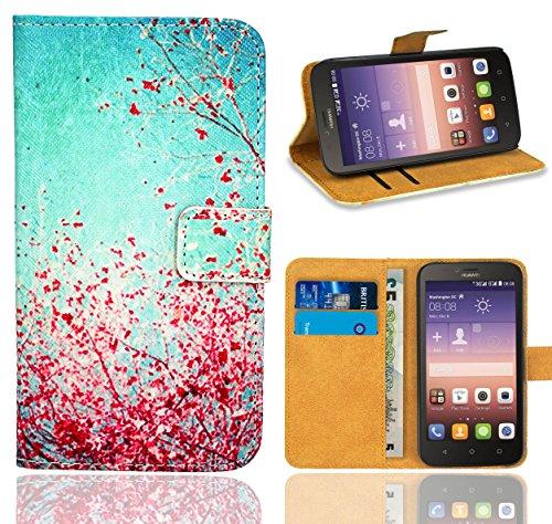 Huawei Y625 Handy Tasche, FoneExpert® Wallet Hülle Flip Cover Hüllen Etui Ledertasche Lederhülle Premium Schutzhülle für Huawei Y625 (Pattern 3)