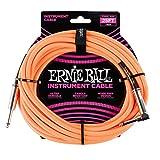 Cavo per strumenti diritti, Treccia angolare Ernie Ball di 25', Neon Orange
