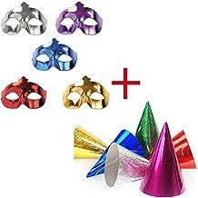 colore IRIDESCENTE Natale accessorio per fine e lultimo dellanno Metallizzata 12 Occhiali OCCHIALINI in Carta HAPPY NEW YEAR idea scherzo gadget per la festa di CAPODANNO Lucida