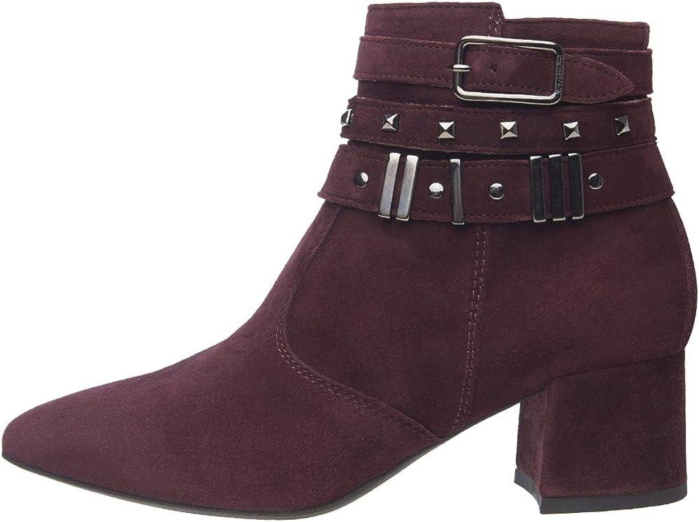 Nero giardini tronchetti stivali per donna in camoscio  con cinturino di abbellimento e dettagli in metallo A909440DE 613