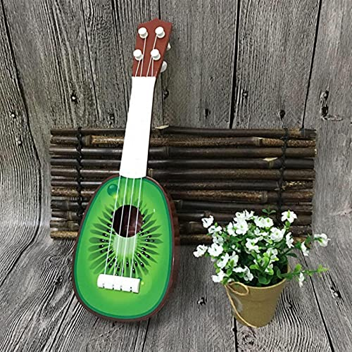 YSTSPYH Ukelele Musical Ukulele Fruta Guitarra Pequeña Guitarra Niños Ukelele Fruta Ukulele Ukelele Fruta Lindo 4 Estilo (Color : Kiwi 32cm no Box)