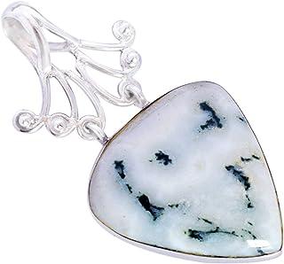 Ravishing Impressions Jewellery Moss ágata piedra preciosa 925 sólida plata esterlina colgante hermosa joyería hecha a man...