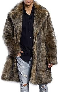 Men's Super Warm Thick Fake Faux Fur Coat Short Snow Outwears Duffle Jacket